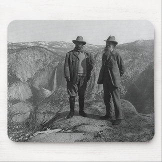 Teddy Roosevelt and John Muir  in Yosemite Mouse Pad