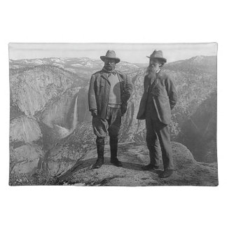 Teddy Roosevelt and John Muir  in Yosemite Cloth Placemat