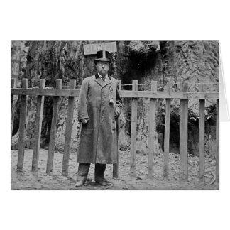 Teddy Roosevelt at the Big Tree Grove Santa Cruz Card