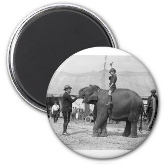 Teddy Roosevelt at the Circus: 1924 2 Inch Round Magnet