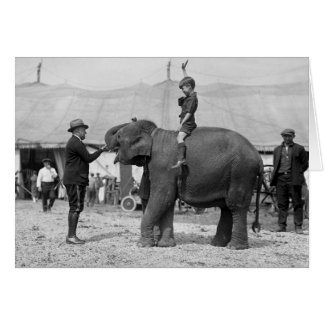 Teddy Roosevelt at the Circus: 1924 Card
