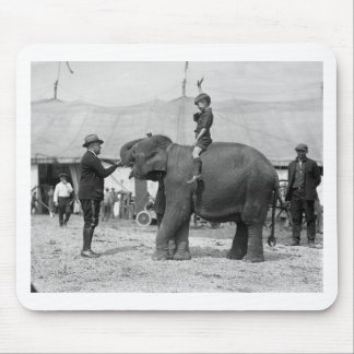 Teddy Roosevelt at the Circus: 1924 Mousepads