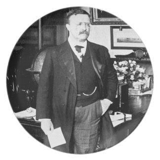 Teddy Roosevelt at the White House 1912 Vintage Dinner Plate