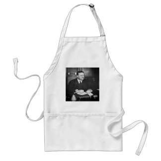 Teddy Roosevelt at Work in 1912 Adult Apron