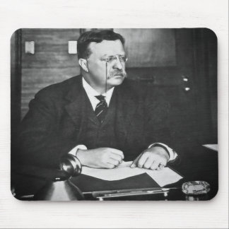 Teddy Roosevelt at Work in 1912 Mouse Pad