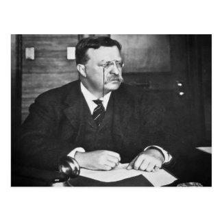 Teddy Roosevelt at Work in 1912 Postcard