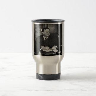 Teddy Roosevelt at Work in 1912 Travel Mug