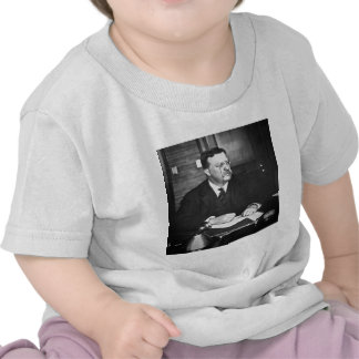 Teddy Roosevelt at Work in 1912 Tshirts