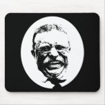 Teddy Roosevelt -- Black and White Mouse Pad