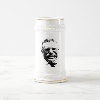 Teddy Roosevelt -- Blanco y negro Jarra De Cerveza