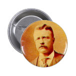 Teddy Roosevelt - botón Pin