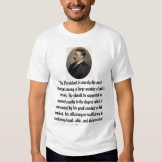 """Teddy Roosevelt, """"el presidente es simplemente el Playera"""