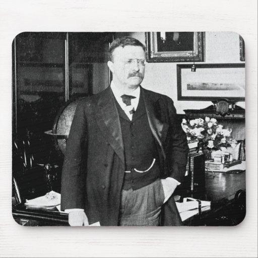 Teddy Roosevelt en el vintage 1912 de la Casa Blan Tapete De Ratones