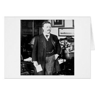 Teddy Roosevelt en el vintage 1912 de la Casa Blan Tarjetón