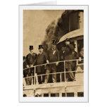 Teddy Roosevelt en el vintage de Tashmoo del vapor Felicitación
