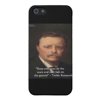 """Teddy Roosevelt """"Feet On Ground"""" Wisdom Quote Gift Cover For iPhone SE/5/5s"""