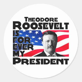 Teddy Roosevelt Forever Classic Round Sticker