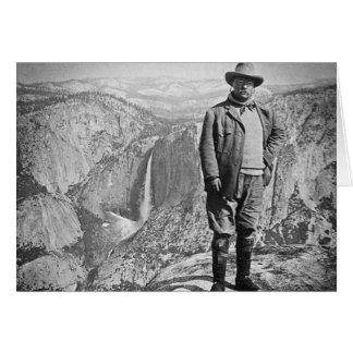 Teddy Roosevelt Glacier Point Yosemite Valley CA Card