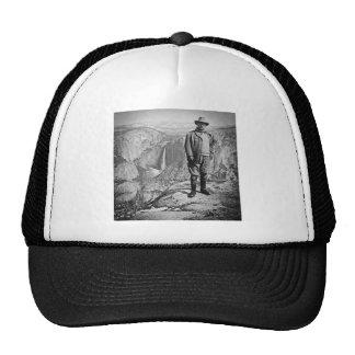 Teddy Roosevelt Glacier Point Yosemite Valley CA Mesh Hats
