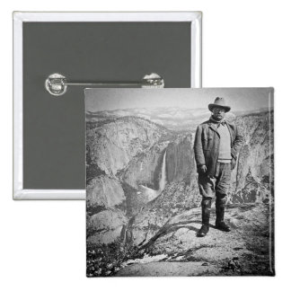 Teddy Roosevelt Glacier Point Yosemite Valley CA Pinback Button