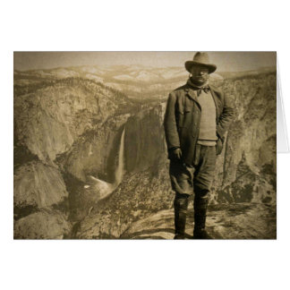 Teddy Roosevelt Glacier Point Yosemite Valley Card