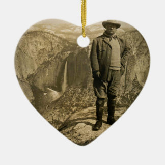 Teddy Roosevelt Glacier Point Yosemite Valley Ceramic Ornament
