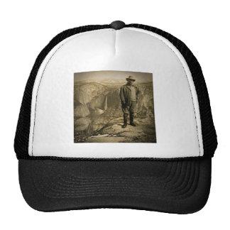 Teddy Roosevelt Glacier Point Yosemite Valley Mesh Hats