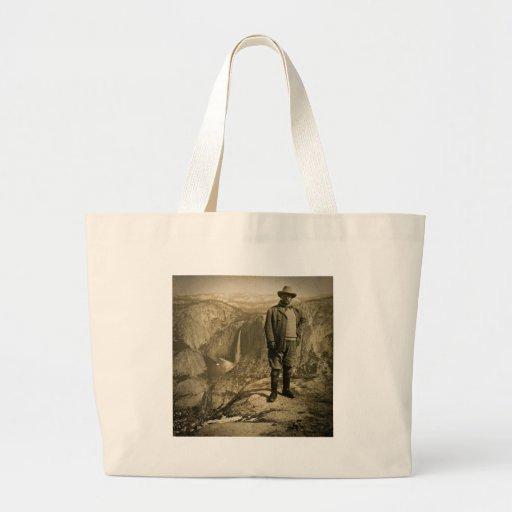 Teddy Roosevelt Glacier Point Yosemite Valley Jumbo Tote Bag