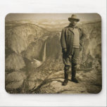 "Teddy Roosevelt Glacier Point Yosemite Valley Mouse Pad<br><div class=""desc"">President Roosevelt&#39;s Choicest Recreation Amid Natures Grandeur on Glacier Point Yosemite Valley California</div>"