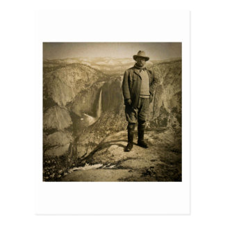 Teddy Roosevelt Glacier Point Yosemite Valley Postcard