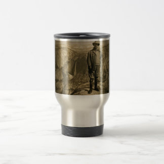 Teddy Roosevelt Glacier Point Yosemite Valley Travel Mug