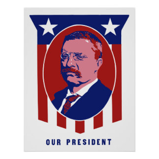 Teddy Roosevelt -- Nuestro presidente Posters