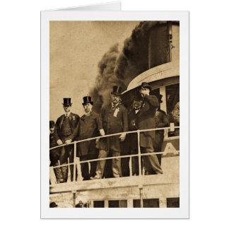 Teddy Roosevelt on the Steamer Tashmoo Vintage Card