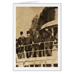Teddy Roosevelt on the Steamer Tashmoo Vintage Greeting Card