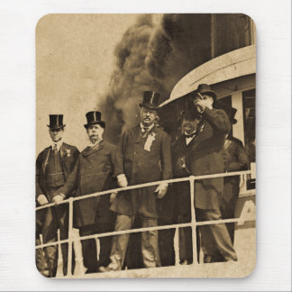 Teddy Roosevelt on the Steamer Tashmoo Vintage Mouse Pad
