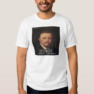"""Teddy Roosevelt """"pies en"""" el regalo de tierra de Camisas"""