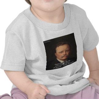 Teddy Roosevelt pies en el regalo de tierra de l Camiseta