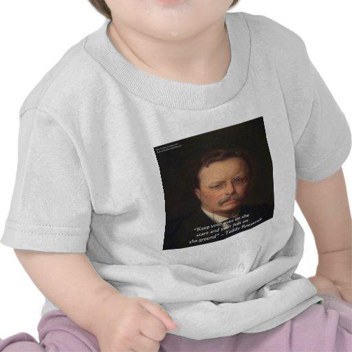 """Teddy Roosevelt """"pies en"""" el regalo de tierra de l Camiseta"""