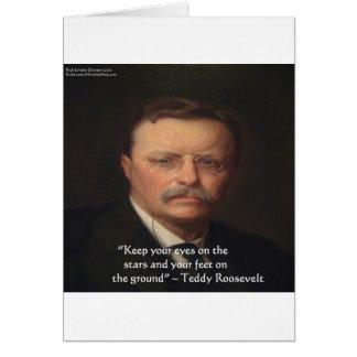 """Teddy Roosevelt """"pies en"""" el regalo de tierra de l Tarjeta De Felicitación"""