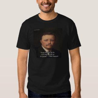 """Teddy Roosevelt """"pies en"""" el regalo de tierra de Playera"""