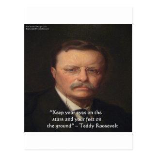 """Teddy Roosevelt """"pies en"""" el regalo de tierra de Postales"""