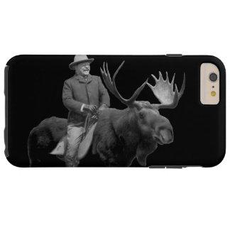 Teddy Roosevelt que monta una caja de los alces de Funda De iPhone 6 Plus Tough