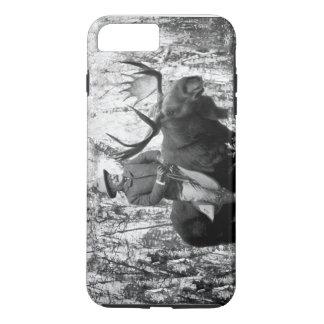 Teddy Roosevelt que monta una caja de los alces de Funda iPhone 7 Plus