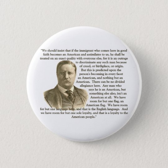 Teddy Roosevelt Quote Button
