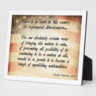 Teddy Roosevelt Quote Plaque