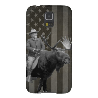 Teddy Roosevelt Riding A Bull Moose Case Cases For Galaxy S5