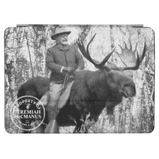 Teddy Roosevelt Riding A Bull Moose Custom iPad Air Cover