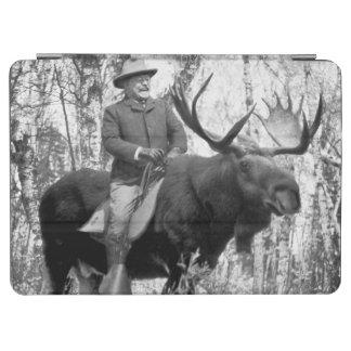 Teddy Roosevelt Riding A Bull Moose iPad Air Cover