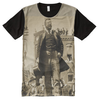 Teddy Roosevelt Speaks to Crowd 1905 Bull Moose All-Over Print Shirt