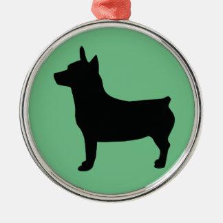 Teddy Roosevelt Terrier Round Ornament